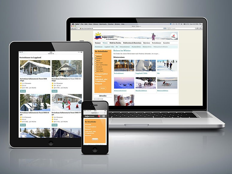 responsive website travel