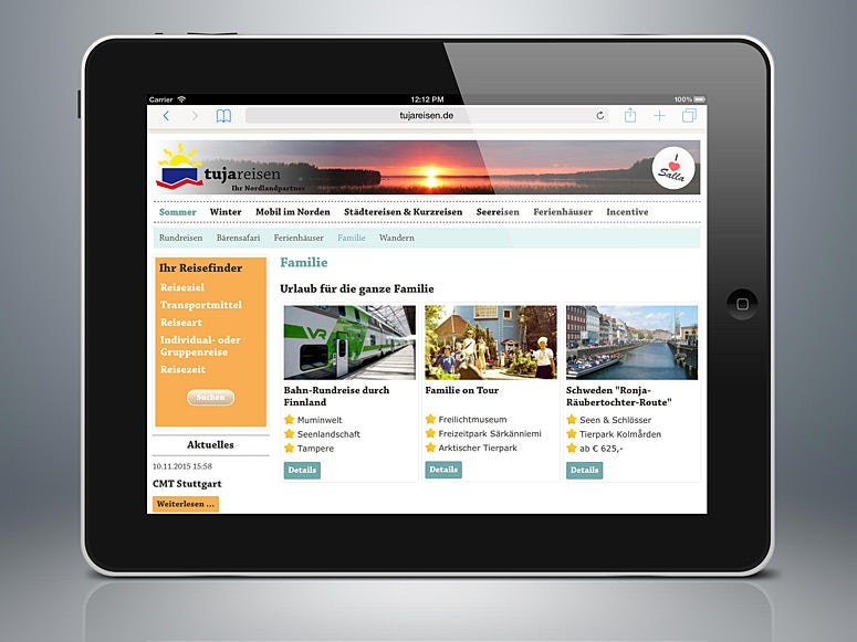responsive web design travel company